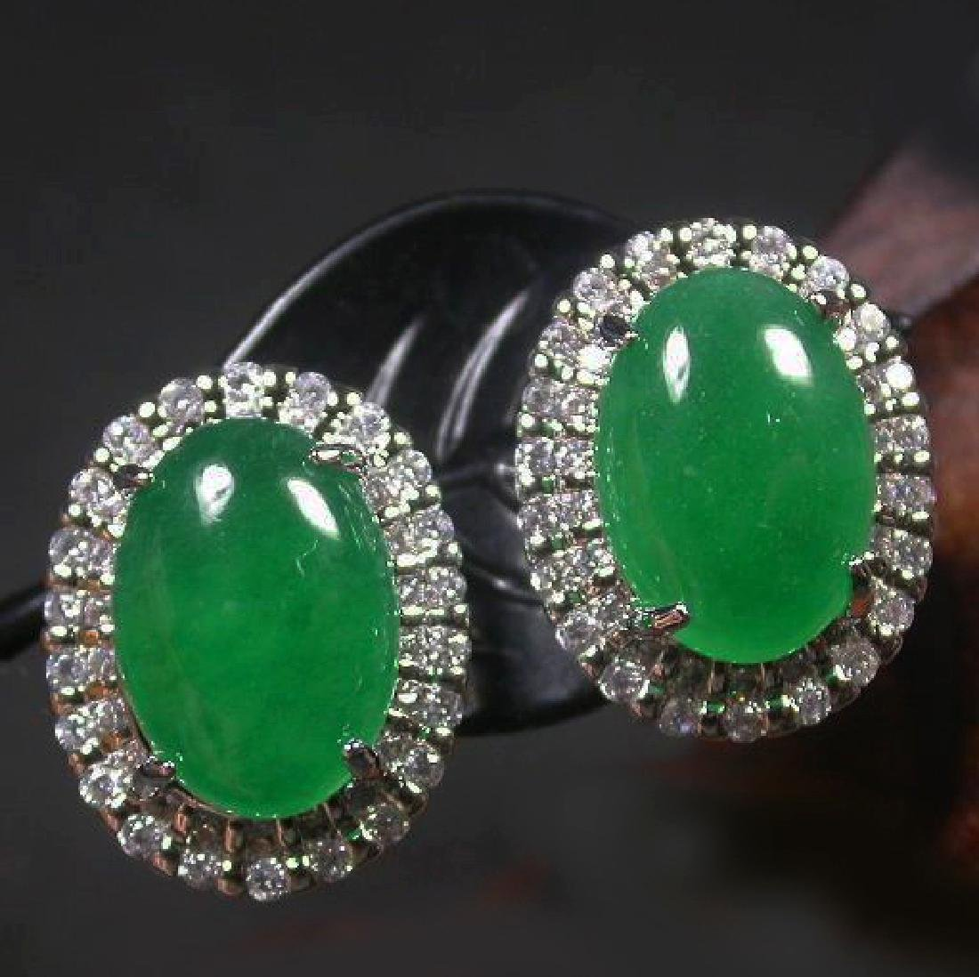 Chinese Jade Earring - 4