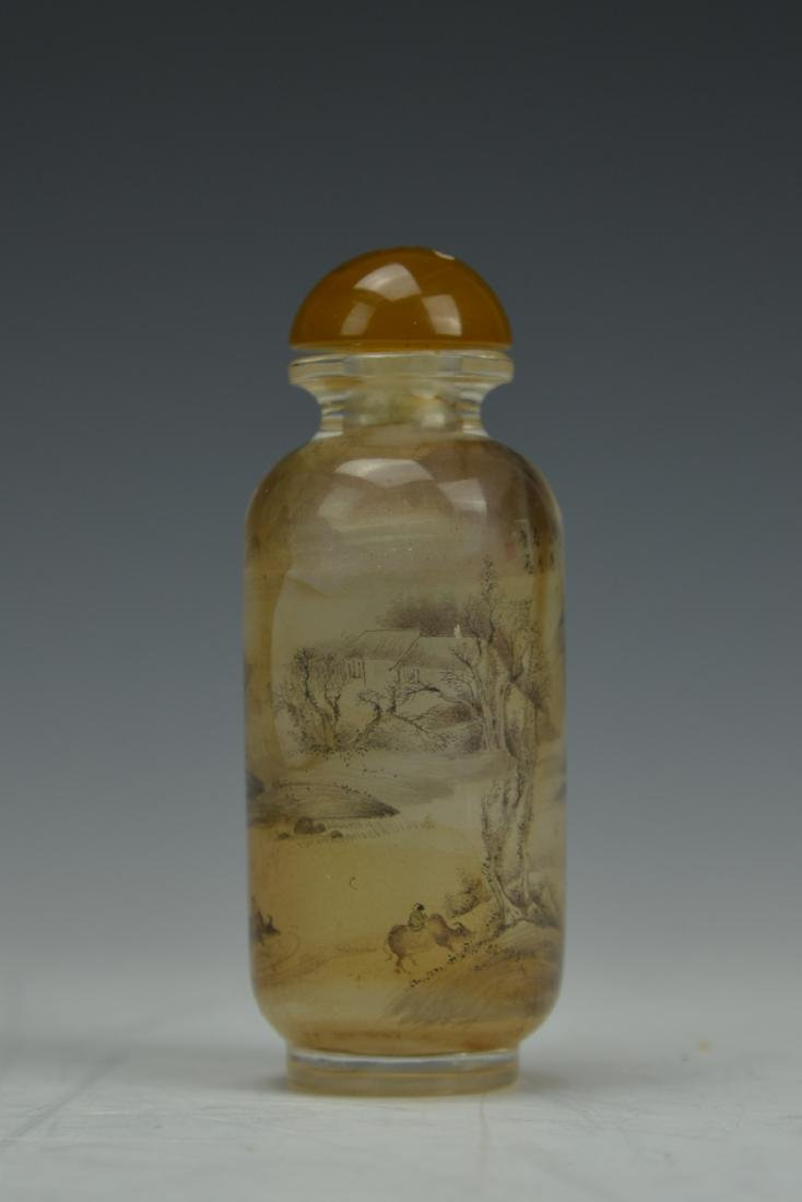 Chinese Reverse Painting Glass Snaff Bottle