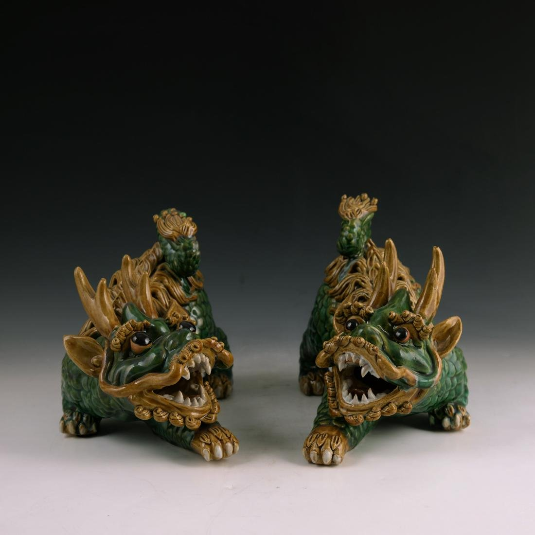 Pair of Chinese Porcelain Qiling State