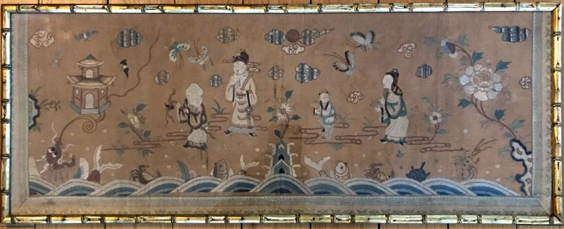 Chinese Silk Embroiderie with Frame