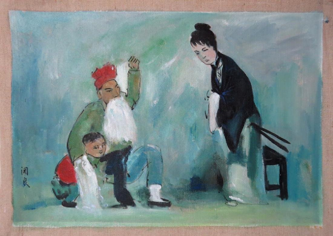 Oil Painting on Canvas, Figures 关良(1900--1986)