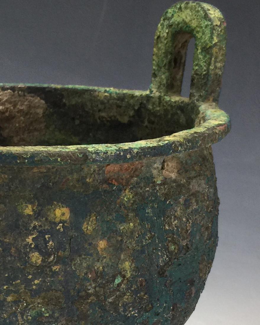 Chinese Archaic Bronze Tripod Censer - 4