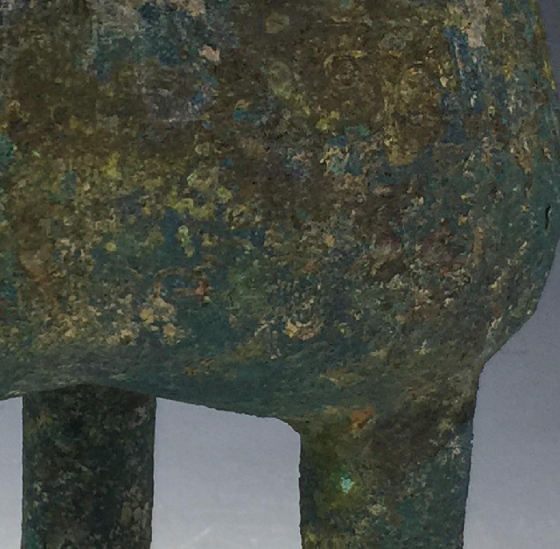 Chinese Archaic Bronze Tripod Censer - 9