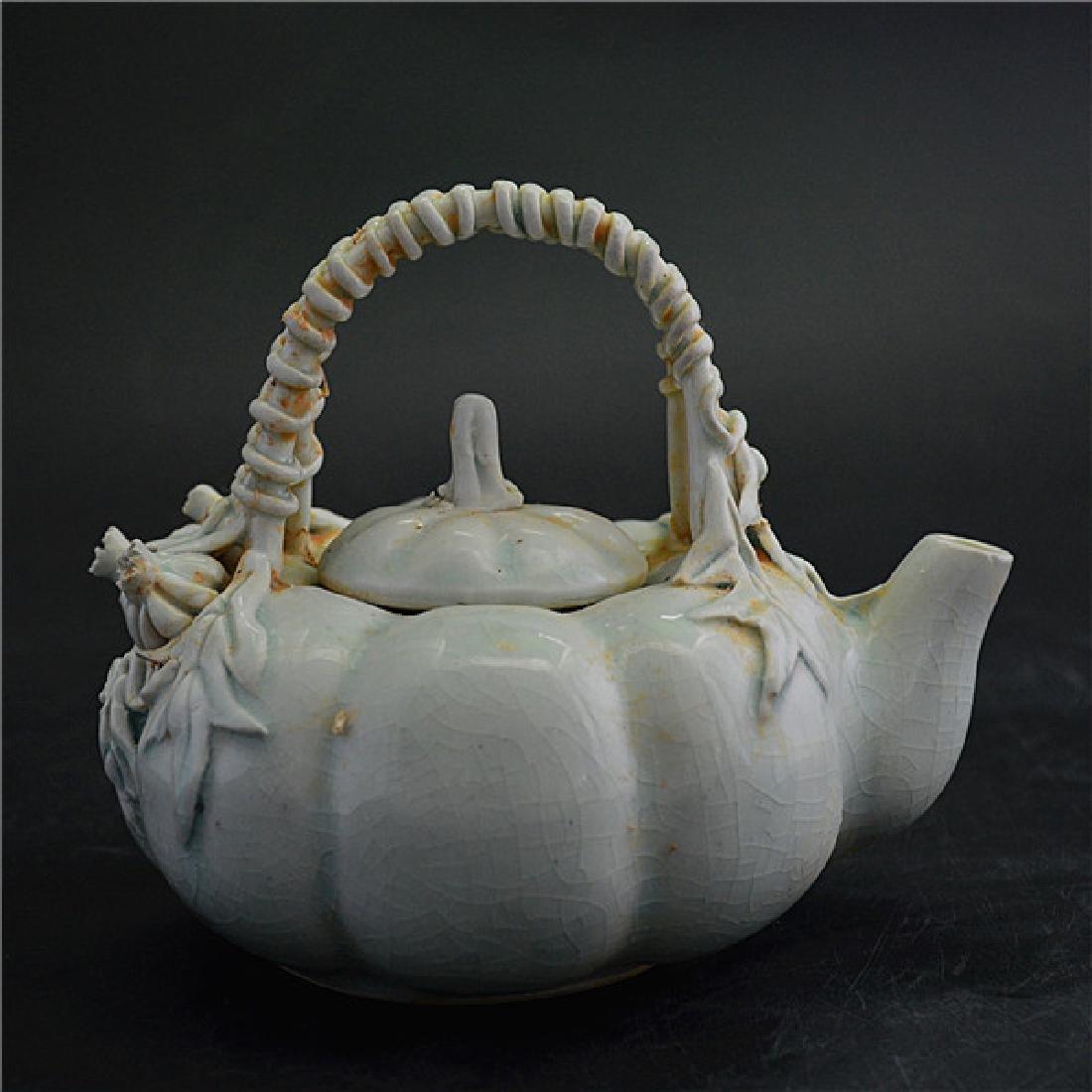 Chinese Hu Tian Ware Pumpkin Pot