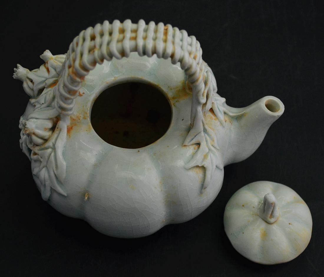 Chinese Hu Tian Ware Pumpkin Pot - 4