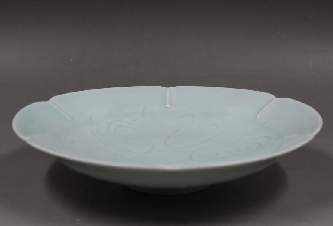 Chinese Hu Tian Ware Figure Dish - 3