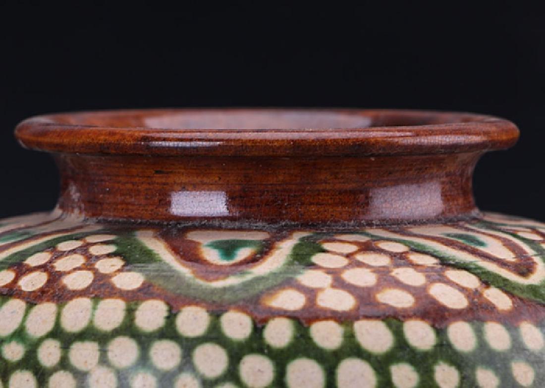Chinese Tang San Cai Tripod Censer - 7