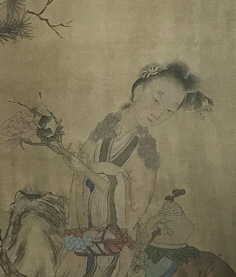 Chinese Scroll Painting of Figure - 3