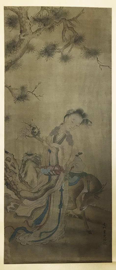 Chinese Scroll Painting of Figure - 5