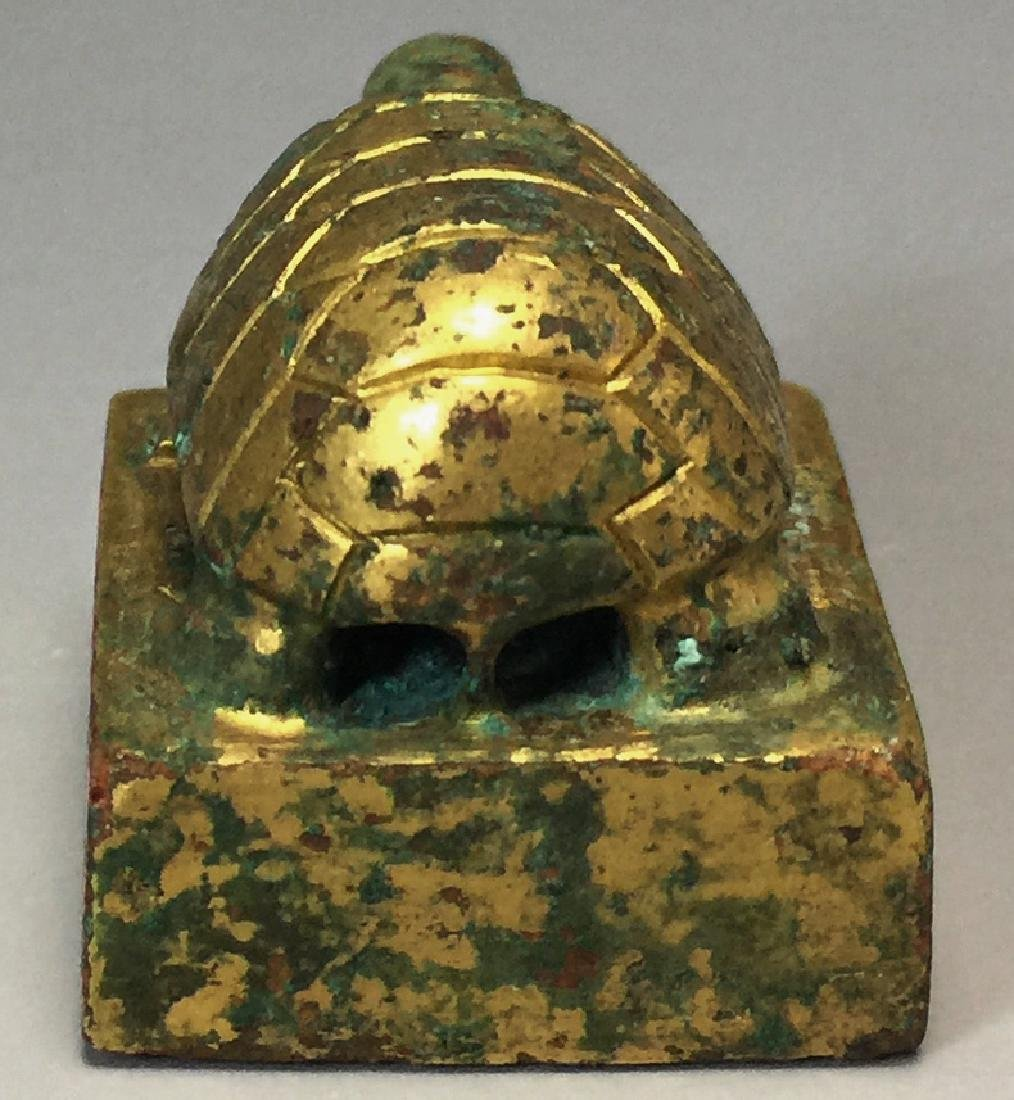 CHINESE GILT BRONZE SEAL - 4