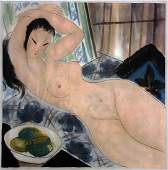 OIL PAINTING CANVAS, NAKED LADY