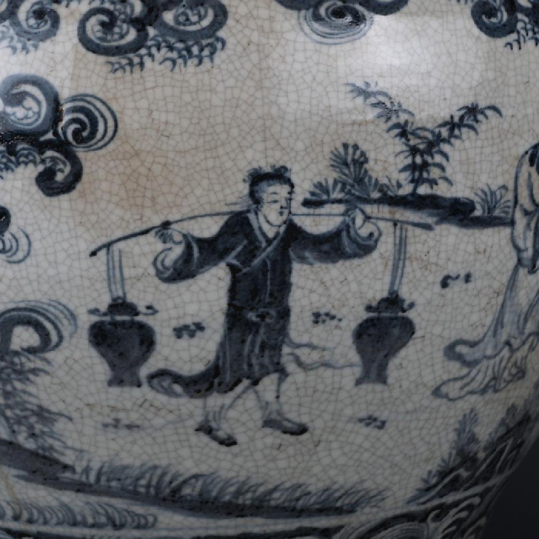 CHINESE BLUE AND WHITE JAR - 10