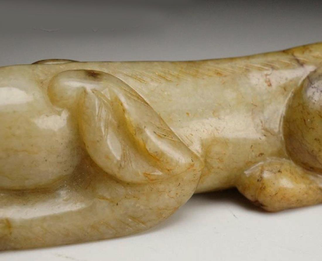 CHINESE MOTTLED JADE HAND PIECE - 3