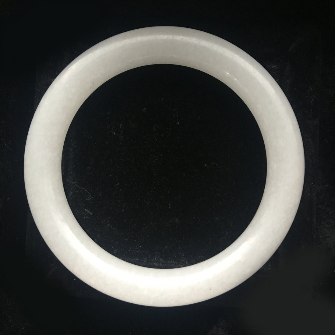 A WHITE JADE BANGLE - 2