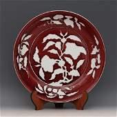 A COPPER RED PLATE