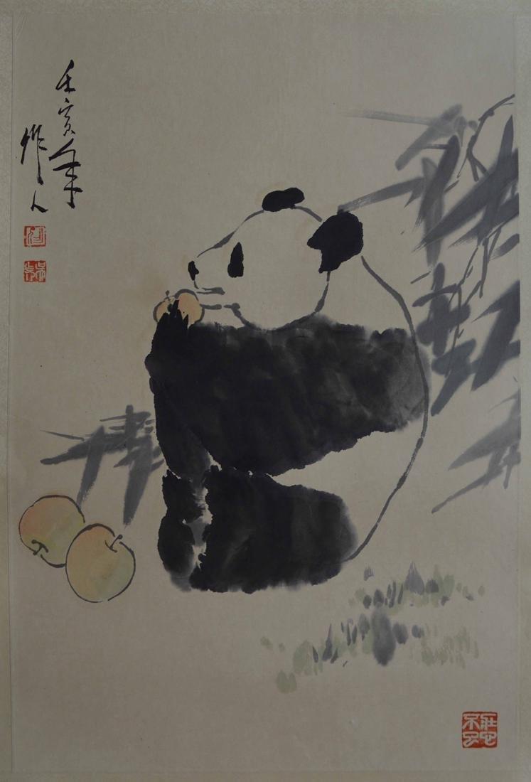 WU ZHUO REN (1908-1997) FLOWER AND BRID