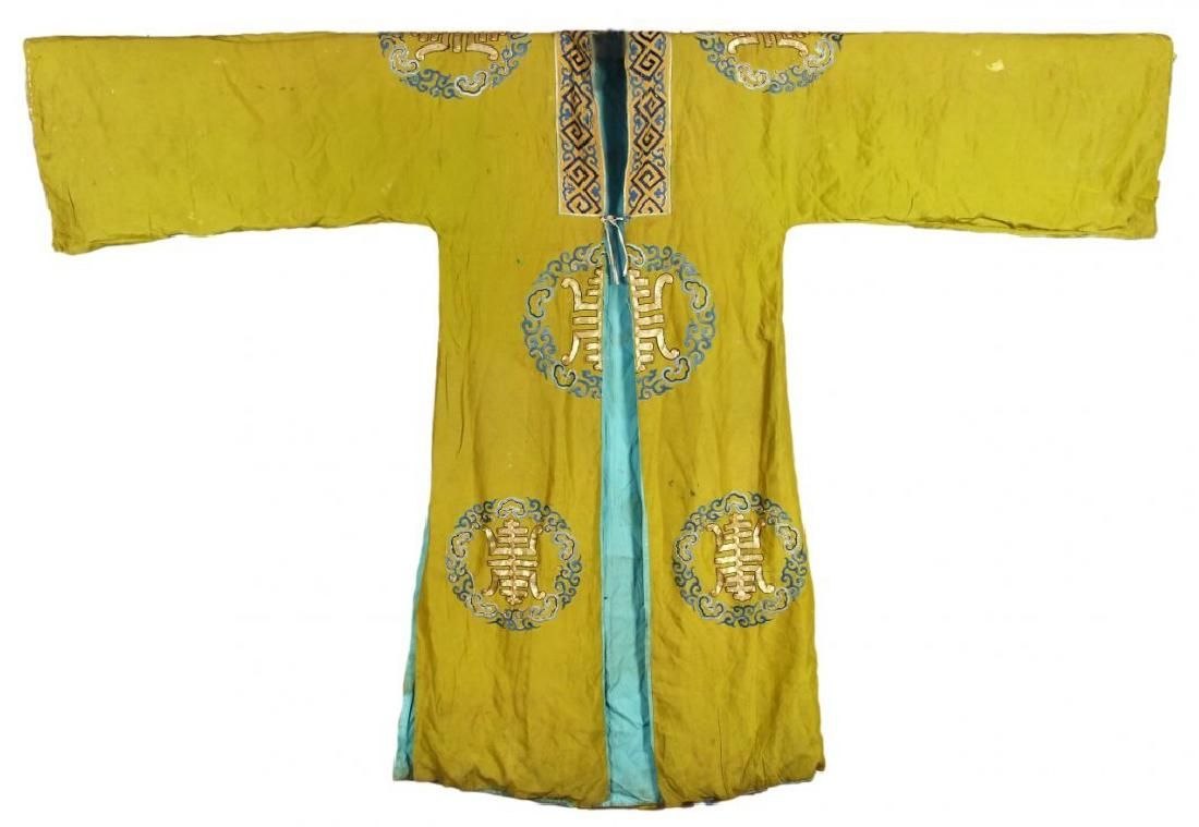 CHINESE SILK EMBROIDERY ROBE