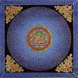 A NEPALESE THANGKA PAINTING