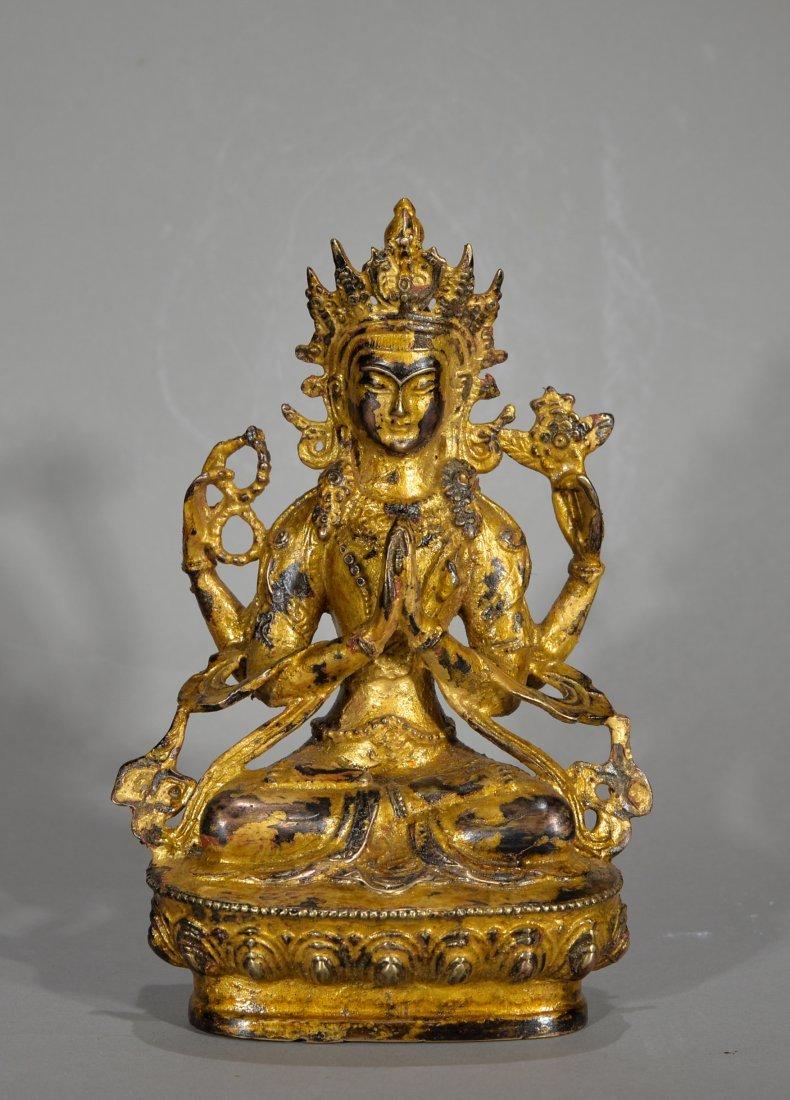 Chinese Gild Buddha Figure