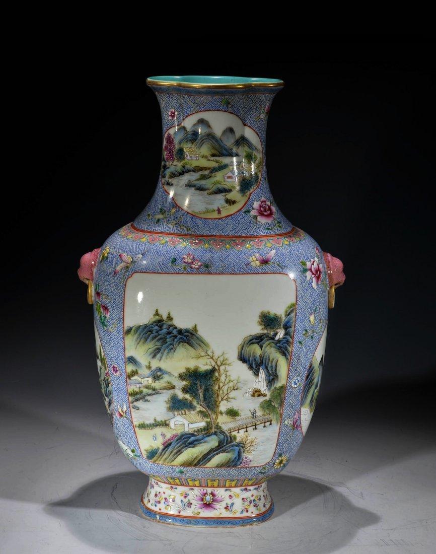 Chinese Fillame Rose Vase