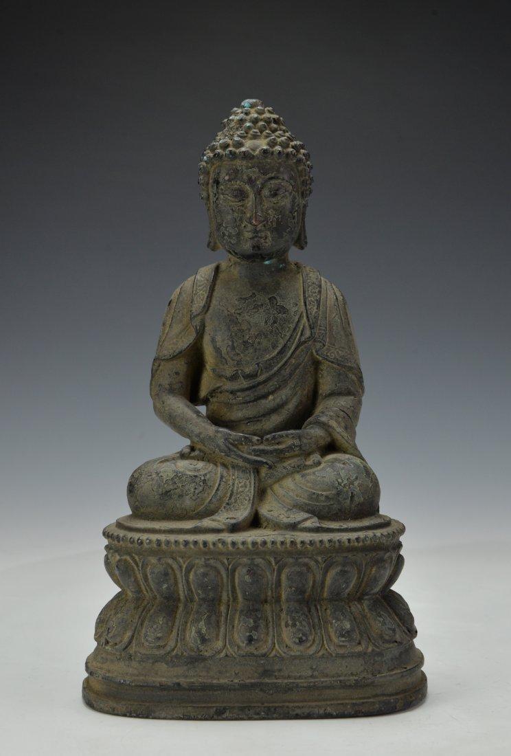 Chinese Bronze Sitting Buddha
