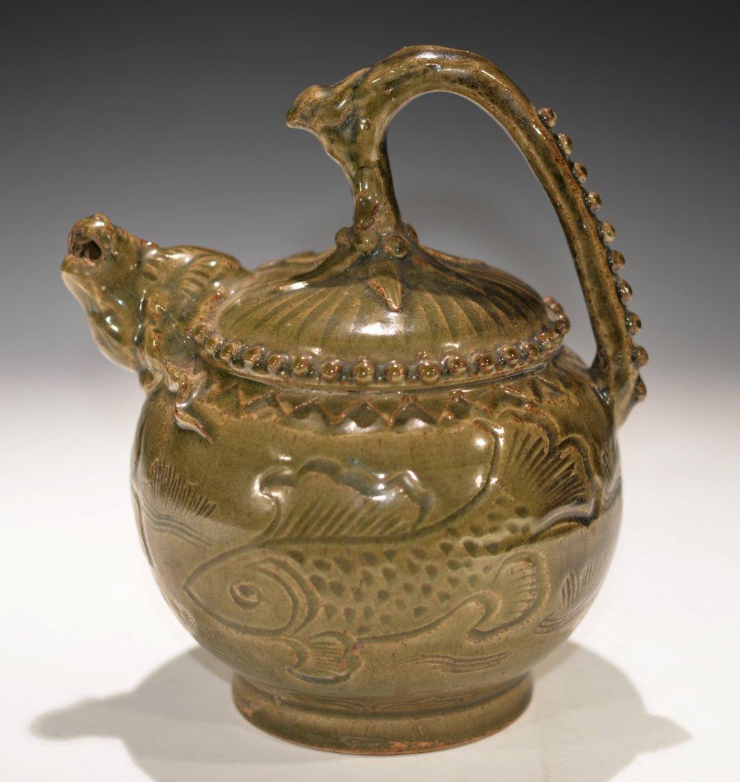 Chinese YaoZhou Celadon Kiln Tea Pot
