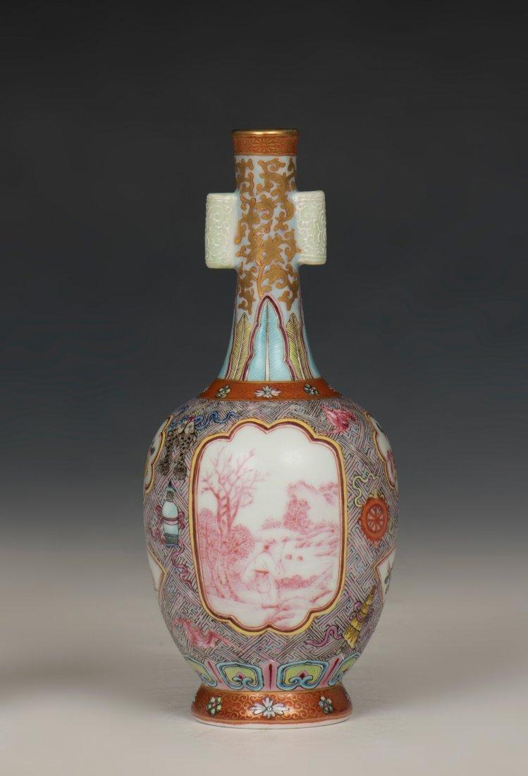 Chinese Familled Rose Vase