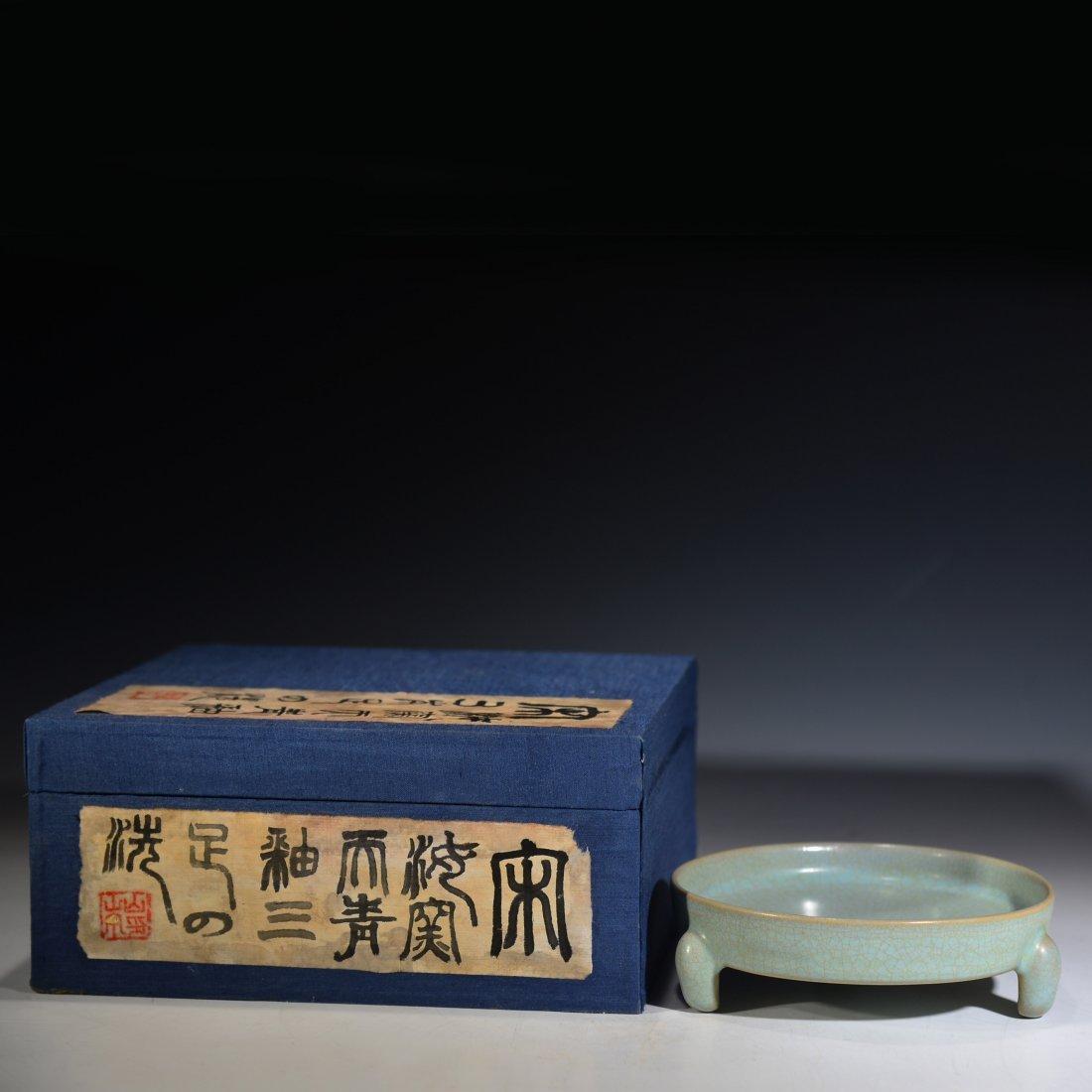 Chinese Ru Ware Tripod Vessel