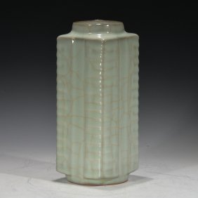 Chinese Lungquan Cong Vase