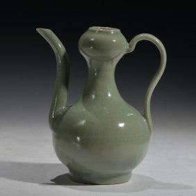Chinese Celadon Glazed Tea Pot