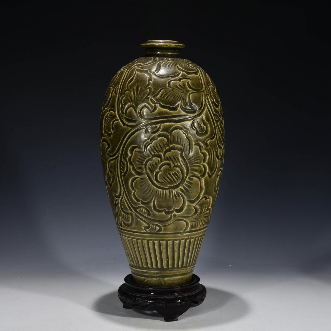 Chinese Antique Yao Zhou Ware Meiping Vase