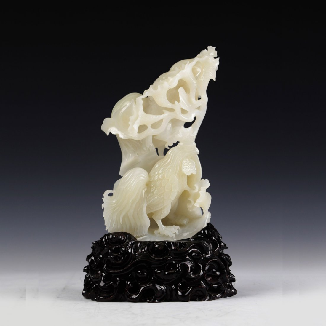 Chinese White Jade Carving Decoration
