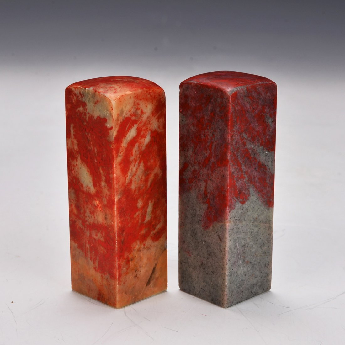 Pair of Chinese Blood Stone Seal