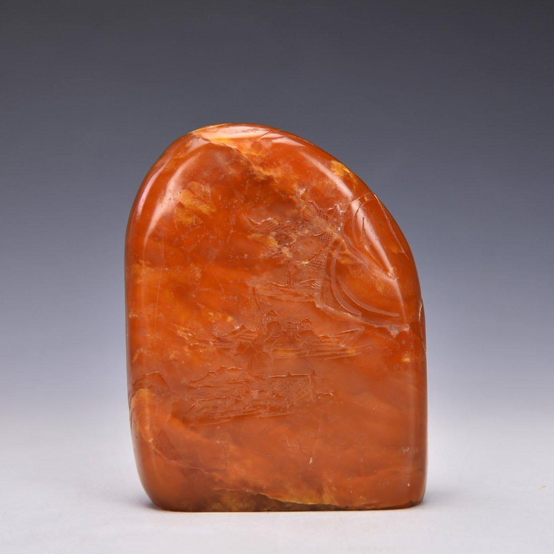 Chinese Sou Sang Stone Boulder