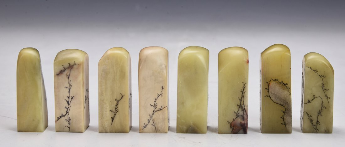 8 Pieces Shou San Stone Seal - 3