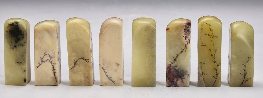8 Pieces Shou San Stone Seal - 4