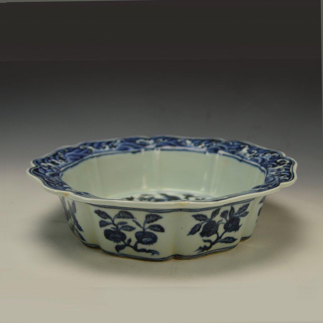Chinese Blue and White Brushwasher