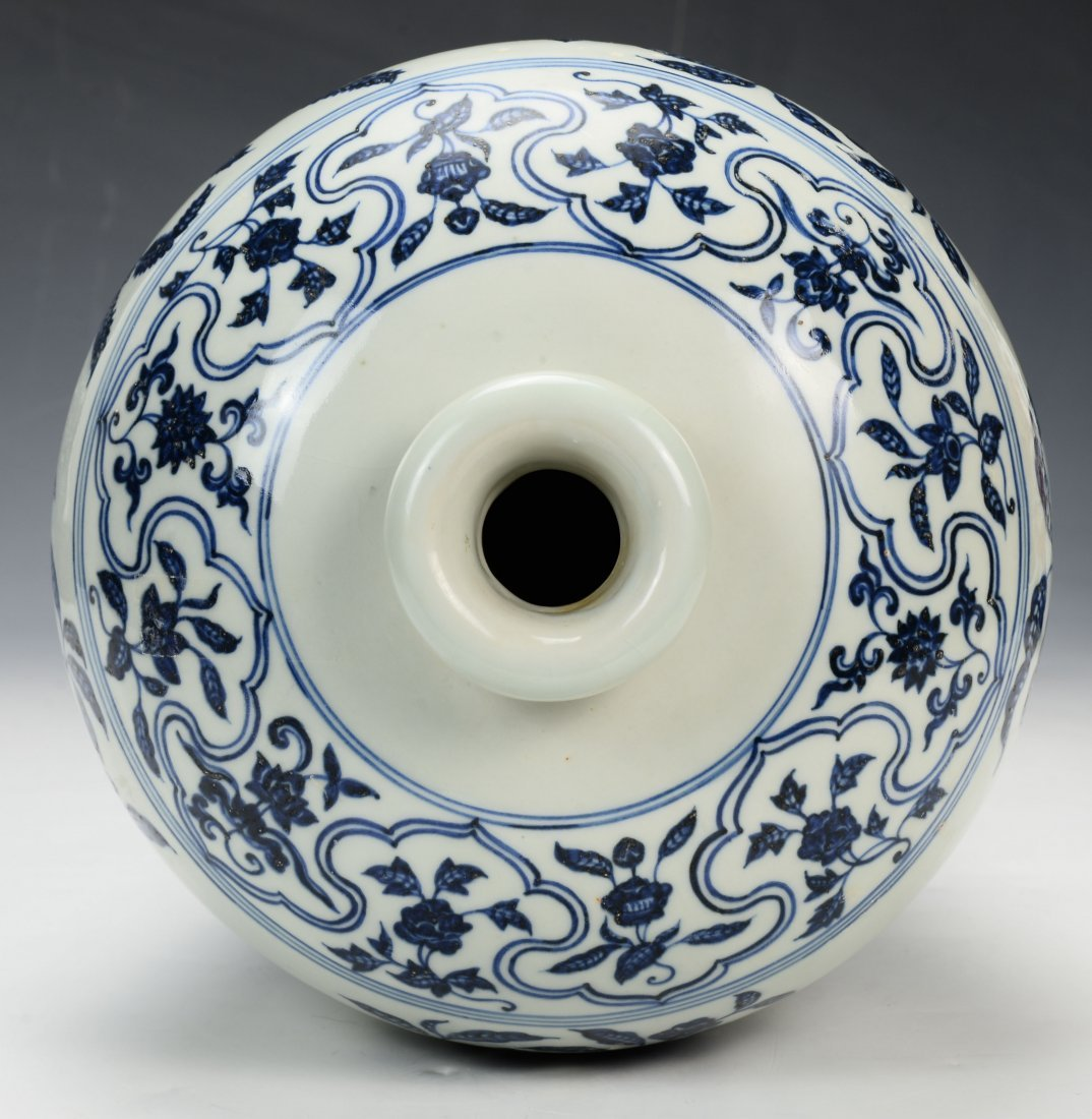 Chinese Blue and White Mei Vase - 5