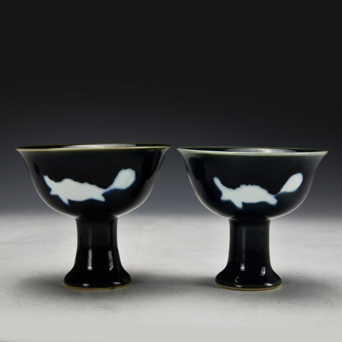 A Pair of Chinese Antique High Stem Bowl