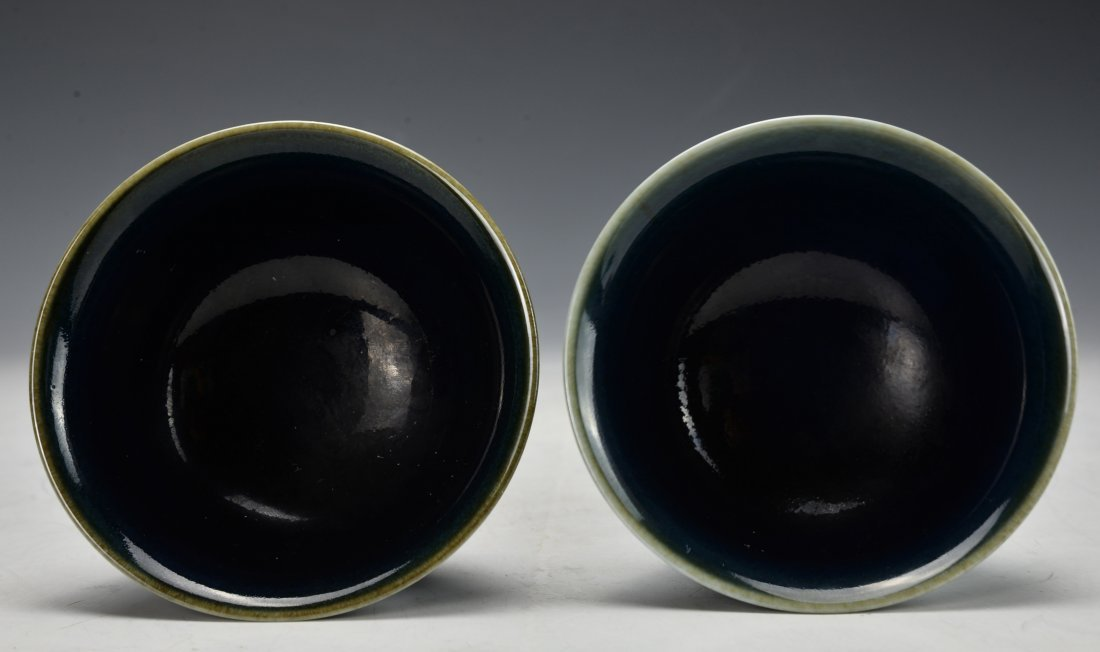 A Pair of Chinese Antique High Stem Bowl - 3