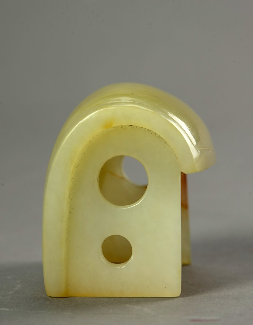 Chinese Antique Yellow Jade hat - 2