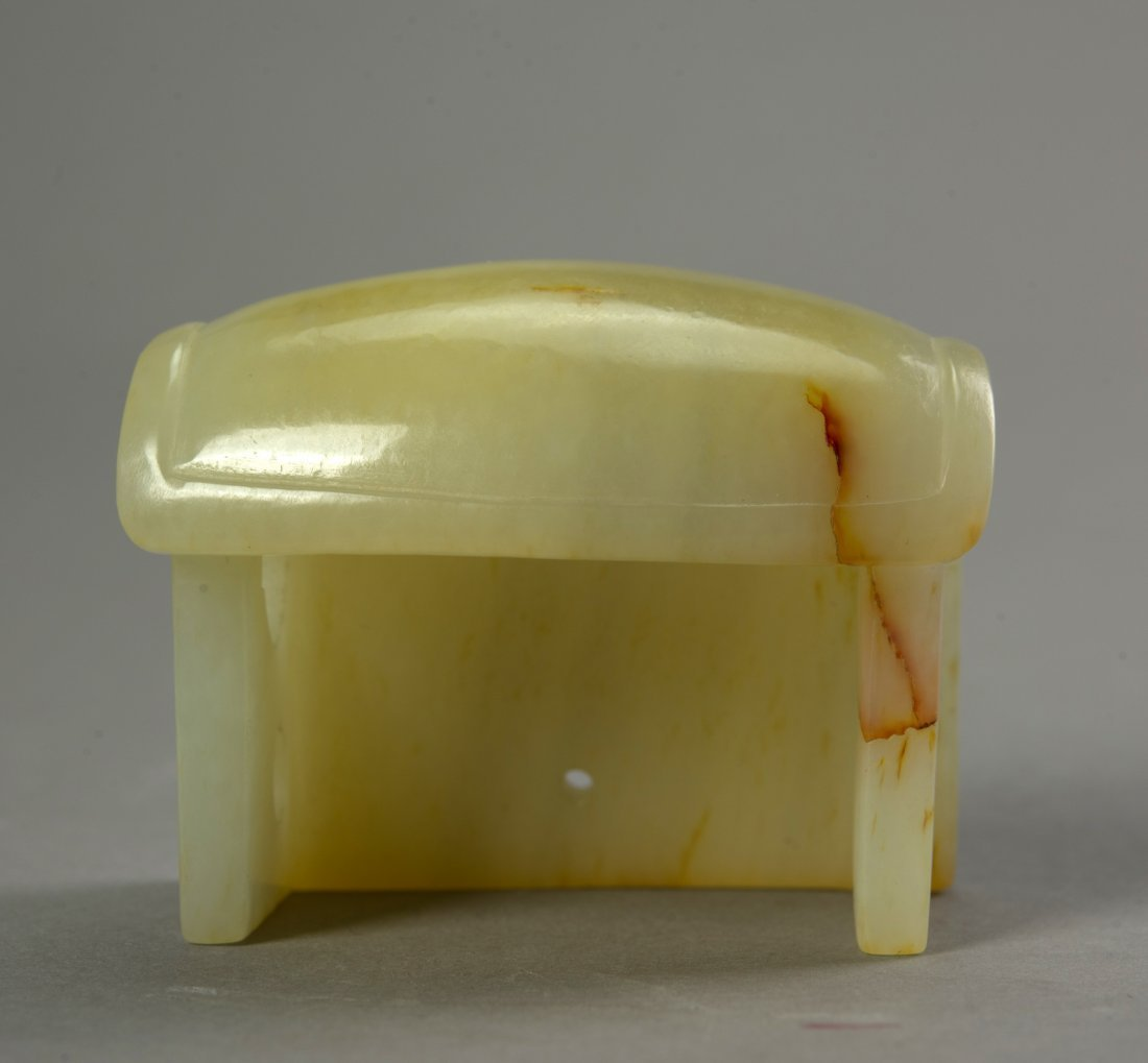 Chinese Antique Yellow Jade hat - 3