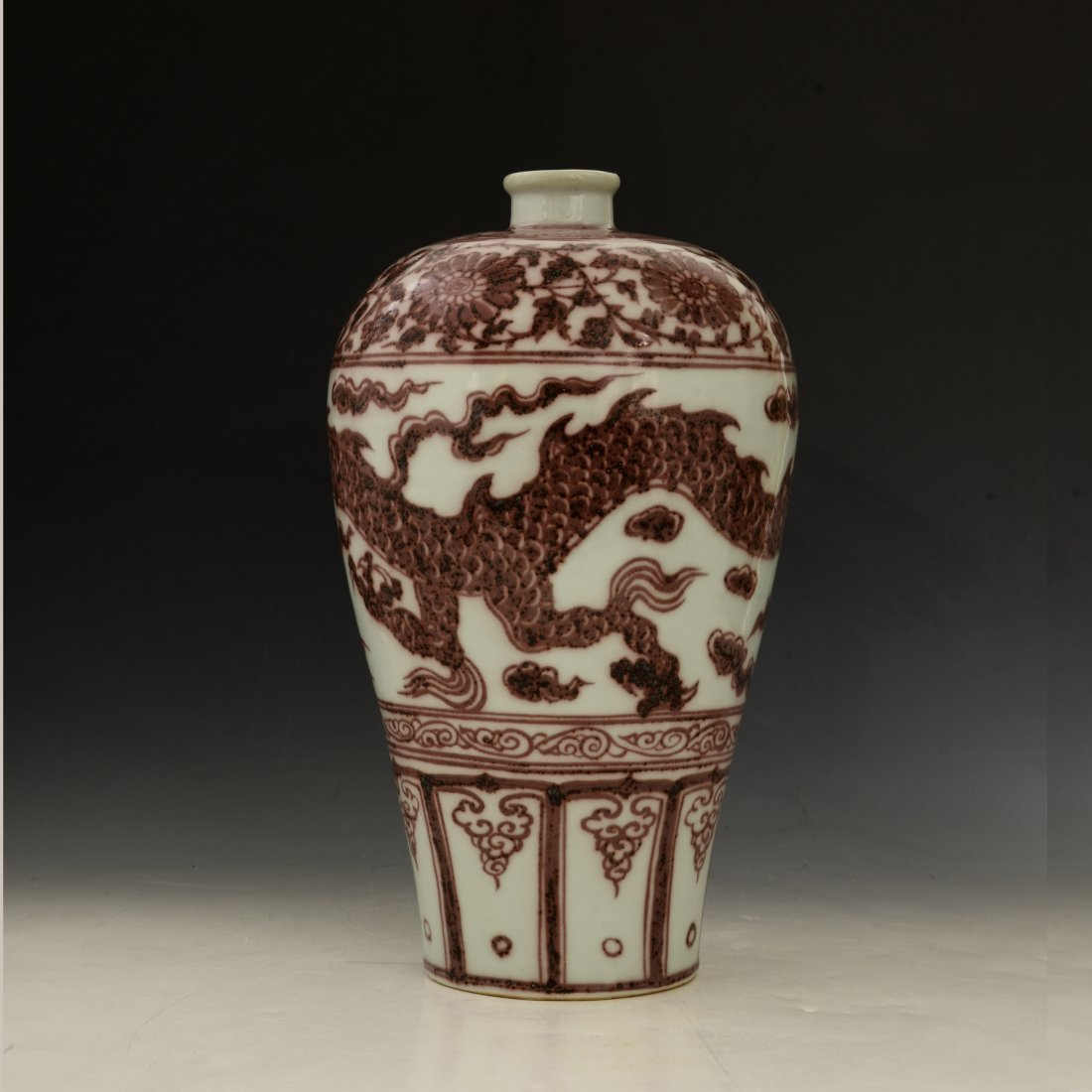 Chinese Copper Red Vase - 10