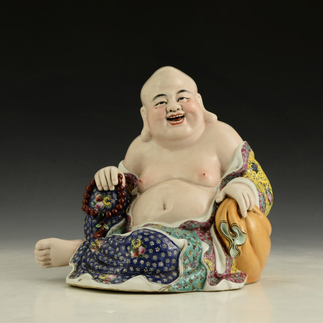 Chinese Famille Rose Buddha Figure