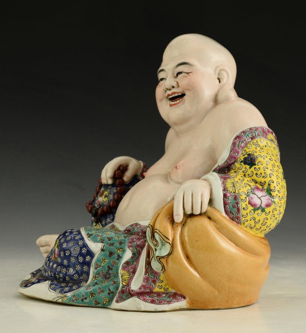 Chinese Famille Rose Buddha Figure - 2