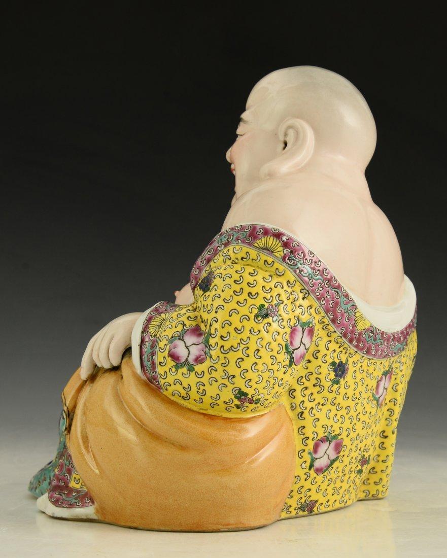 Chinese Famille Rose Buddha Figure - 3