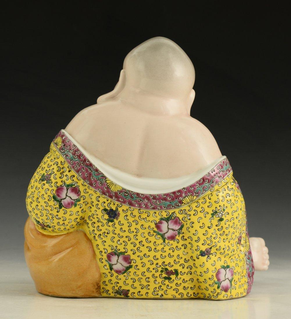 Chinese Famille Rose Buddha Figure - 4