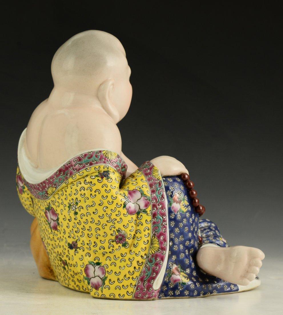 Chinese Famille Rose Buddha Figure - 5
