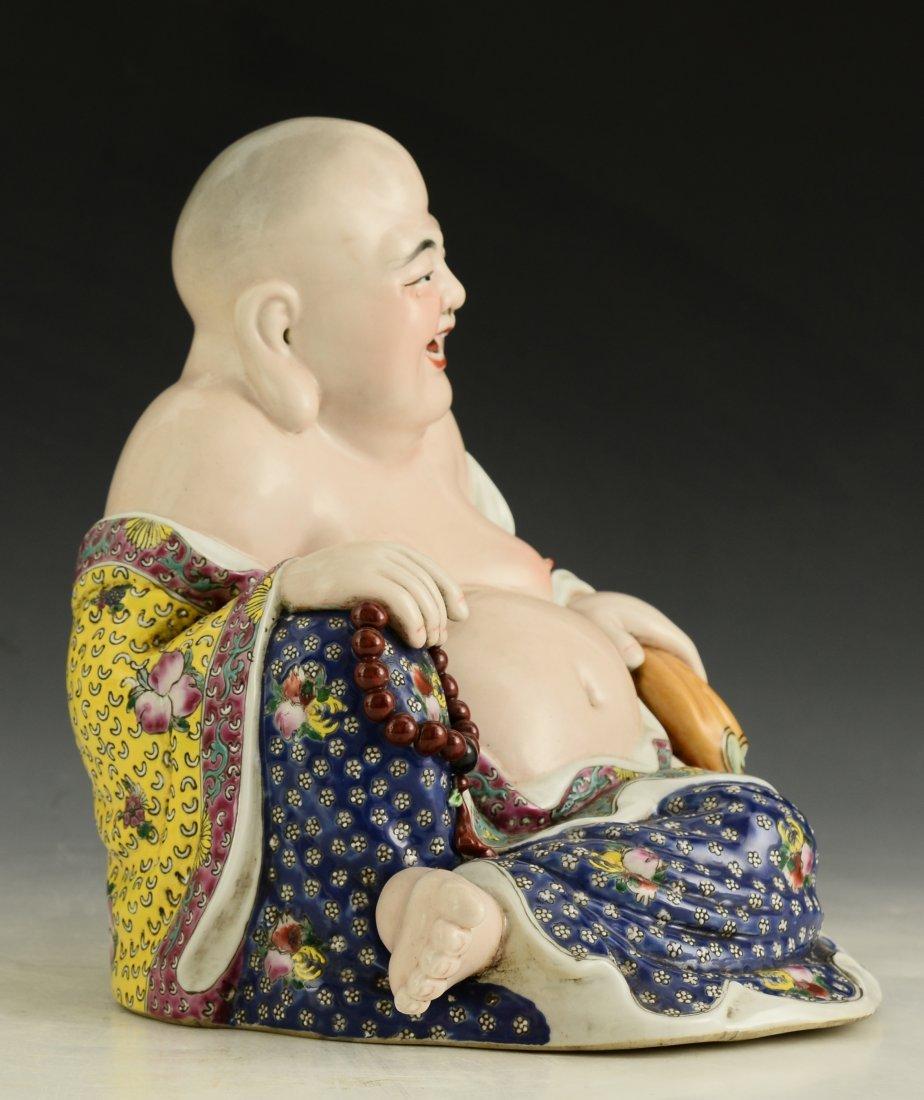 Chinese Famille Rose Buddha Figure - 6