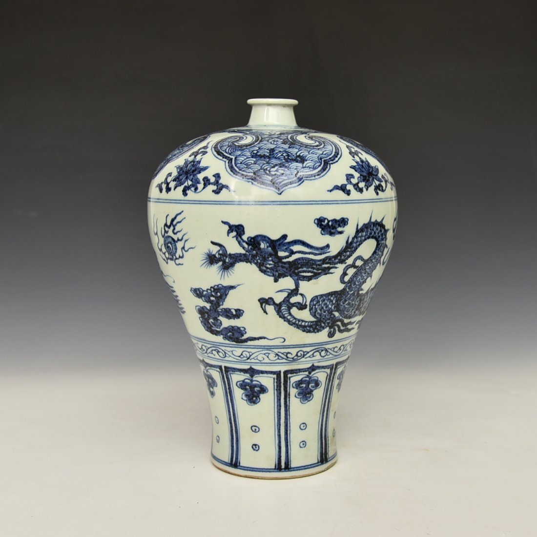 Chinese Blue and White Mei Vase
